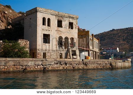 Crimea. Balaklava bay 19th-century building the house of Prince Yusupov