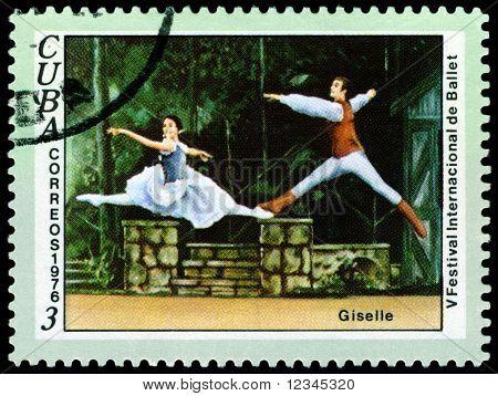 Vintage  Postage Stamp.  Giselle.