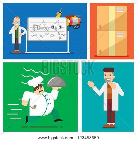 Express delivery vector illustration. Express delivery situation. Express delivery package. Post service, order. Symbol of express delivery. Shipping. Delivery goods, shipping service. Express delivery sign. Delivery service. Delivery process.