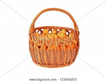 Apricot In Wattled Basket