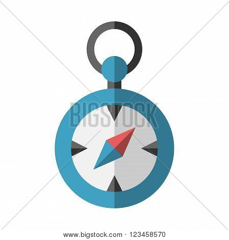 Compass isolated on white. Flat style object. Direction search travel orientation journey navigation guidance concept. EPS 8 vector illustration no transparency