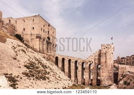 The Ruins of Citadel of Aleppo, Syria
