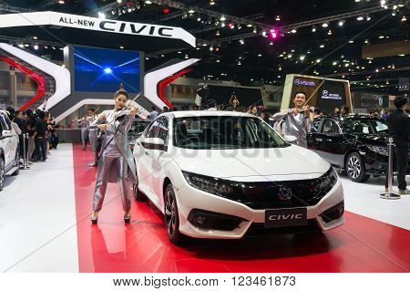 Nonthaburi - March 23: New Honda Civic 2016 On Display At The 37Th Bangkok International Motor Show