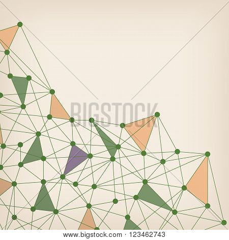 Abstract Mesh Background with Circles, Lines and Shapes. Vector illustration