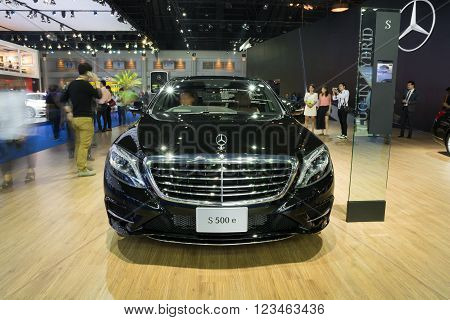 Nonthaburi - March 23:new Mercedes Benz Gls S500 E Amg Premium On Display At The 37Th Bangkok Intern