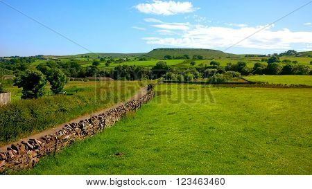 A view of Haslingden Grange countryside in England UK