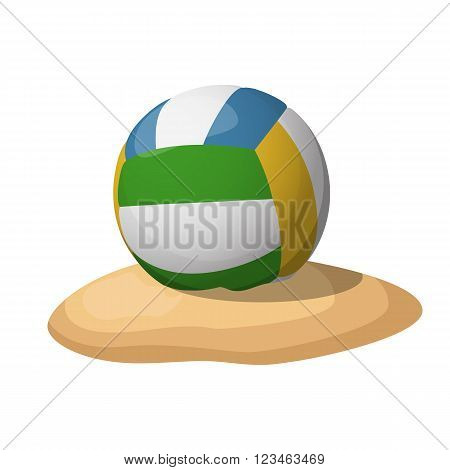 Volleyball on the sand. Vector illustration EPS10