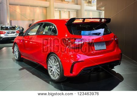 Nonthaburi - March 23: New Mercedes Benz A 45 Amg On Display At The 37Th Bangkok International Motor