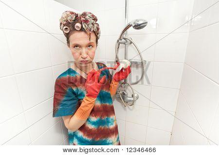 Woman Boring Chores