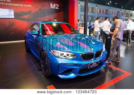 NONTHABURI - MARCH 23: NEW BMW M2 Coupe on display at The 37th Bangkok International Motor show on MARCH 23 2016 in Nonthaburi Thailand.