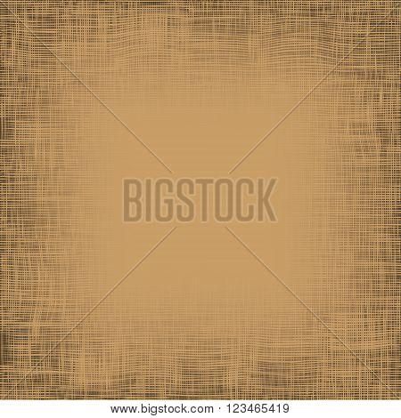 Brown light canvas texture vector background. Imitation of natural fabric