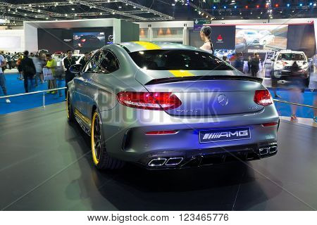 Nonthaburi - March 23: New Mercedes Benz C63 S Amg On Display At The 37Th Bangkok International Moto