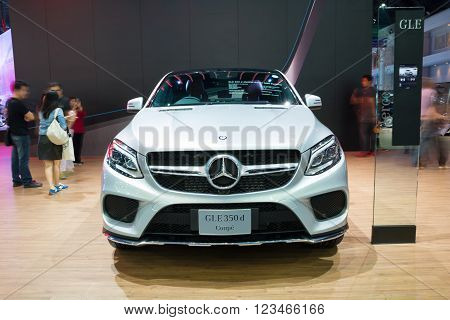Nonthaburi - March 23: New Mercedes Benz Gle 350 D Coupe On Display At The 37Th Bangkok Internationa