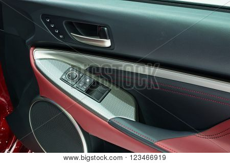Nonthaburi - March 23: Door Panel Of New Lexus Rc 200T On Display At The 37Th Bangkok International