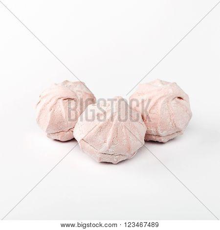 Pink vanilla zephyr photo isolated on white background