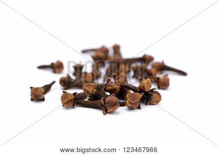 Fragrant spices cloves isolated on white background. ** Note: Visible grain at 100%, best at smaller sizes