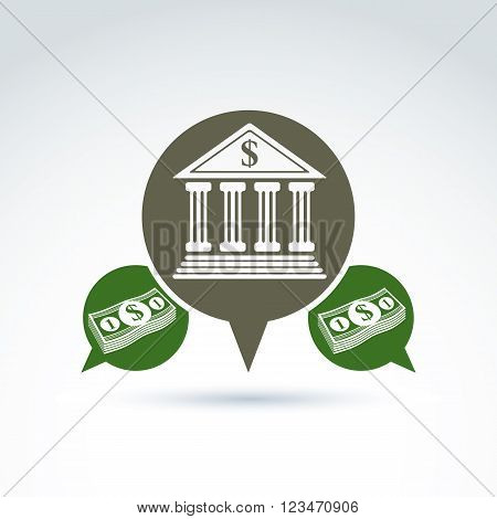 Banking Credit And Deposit Money Theme Icon, Vector Conceptual Stylish Symbol For Your Design.