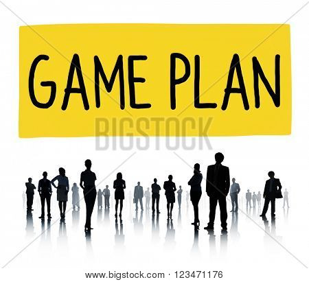 Game Plan Strategy Tactic Planning Vision Concept