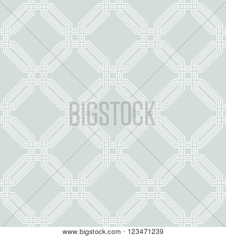 Geometric fine abstract background. Seamless modern pattern with white octagons