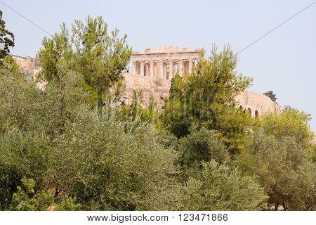 The Parthenon on the Athenian Acropolis, Greece,
