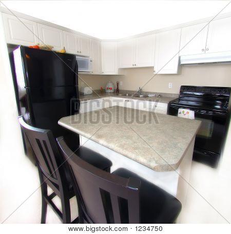 Contrasting Urban Kitchen