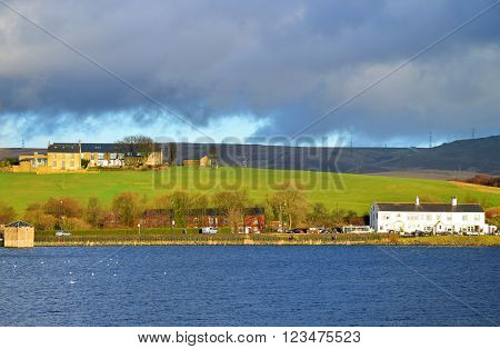 Hollingworth Lake in Rochdale Lancashire England UK