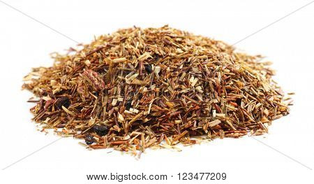 Bunch of Rooibos tea, isolated on white