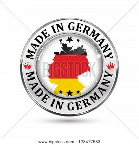 Made in Germany - icon with Germany's flag on the background