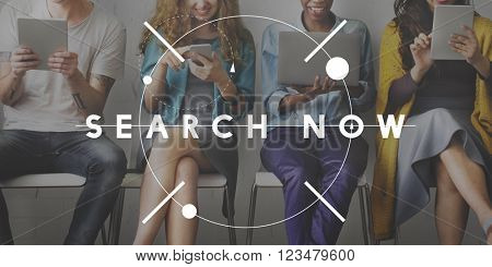 Search Now Discover Connection Seeking SEO Concept