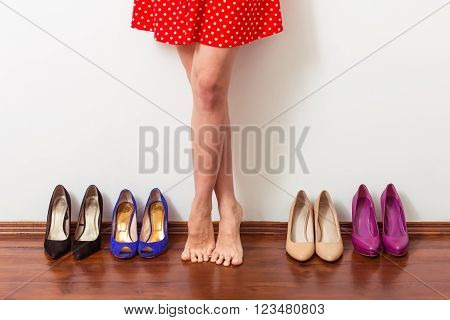 Girl Choosing Shoes