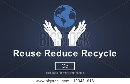 Reuse Reduce Recycle Eco Friendly Concept