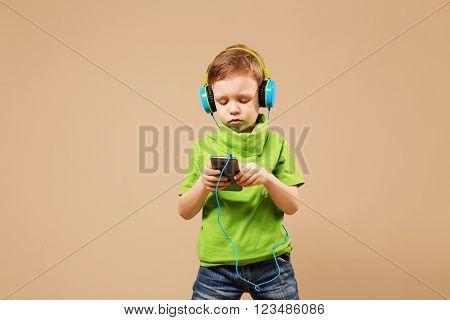 Boy In The Headphones Enjoy Music