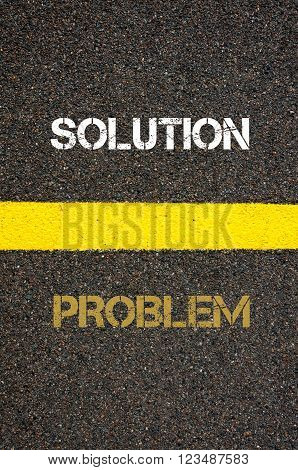 Antonym Concept Of Problem Versus Solution
