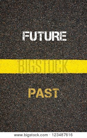 Antonym Concept Of Past Versus Future
