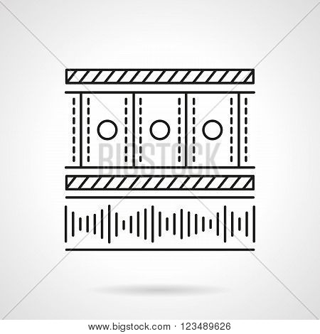 Video and audio player application. Media blog. Social networks. Vector icon flat thin line style. Element for web design, business, mobile app.