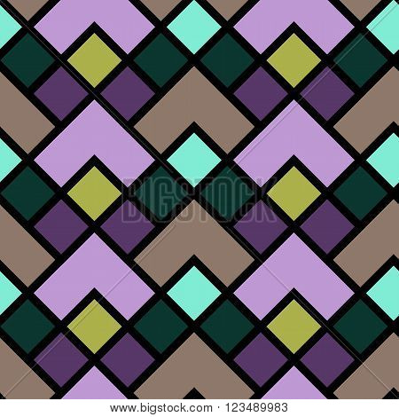 Vector seamless pattern. Modern stylish texture. Repeating geometric tiles. Colorful geometric pattern