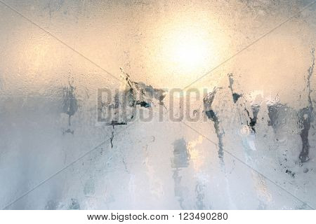 Light through the misted glass