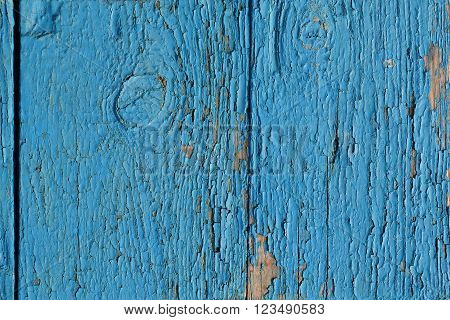 blue and old dilapidated wooden grunge background