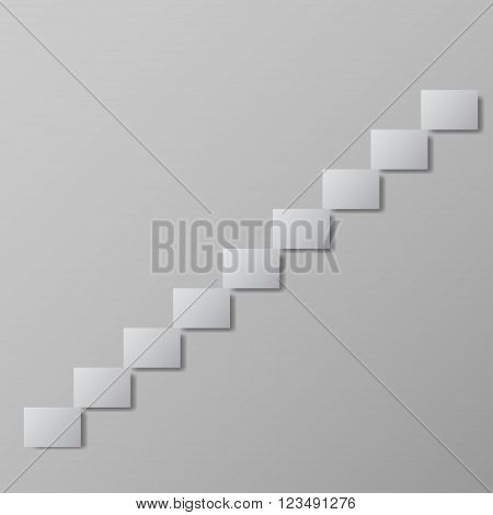 staircase upstairs grey vector illustration Conceptual image