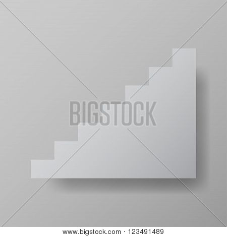 staircase upstairs grey vector illustration web element