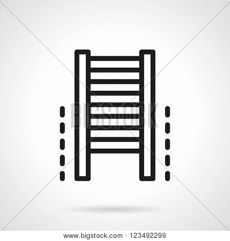 Gym equipment. Climb wall bars. Sport lifestyle and fitness. Vector icon simple black line style. Single design element for website, business.