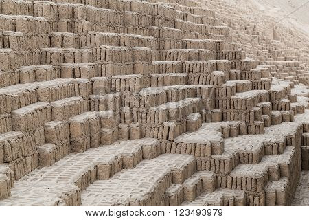 Huaca Pucllana, Juliana Or Wak'a Pukllana -  Great Adobe And Clay Pyramid In Miraflores, Lima,  Peru