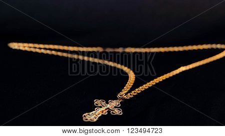 jewelry gold black expensive chain isolated fashion,