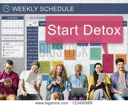 Start Detox Planning Wellness Healthy Concept