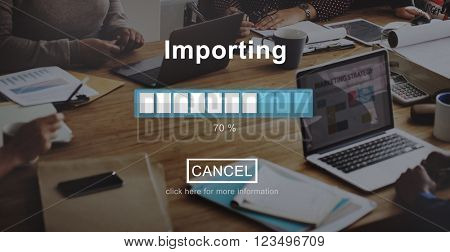 Importing Progress Bar Loading Concept