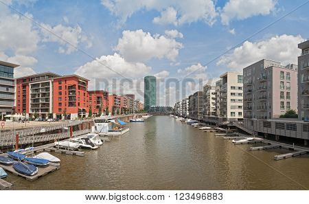 New Appartements in the West Harbour in Frankfurt, Germany