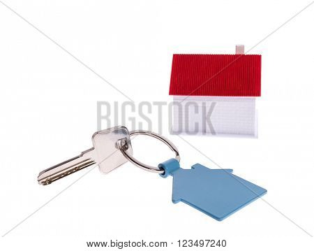 house key isolated on white
