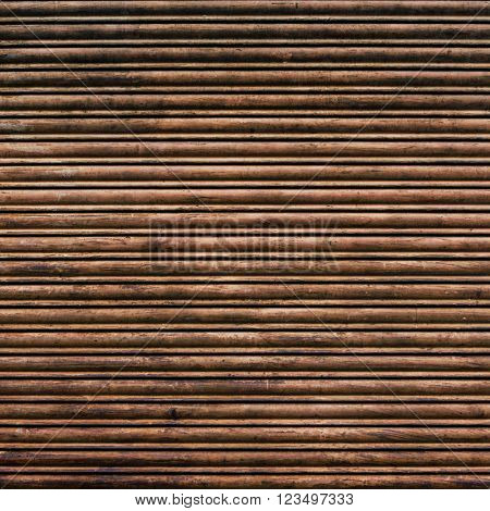 Brown and rusty iron curtain texture