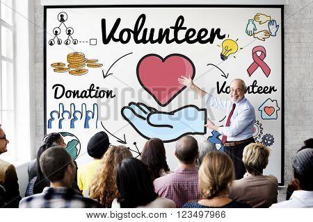 Volunteer Donation Welfare Helping Hand Concept