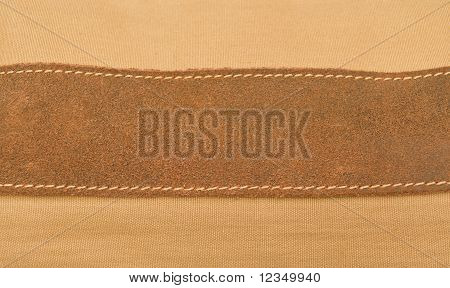 Strip of brown pressed leather